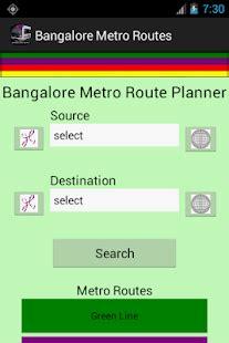bangalore namma metro routes android apps on google play