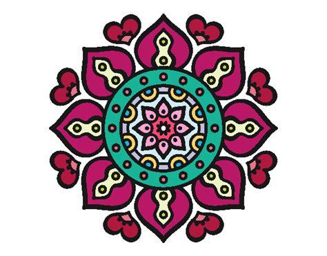 imagenes mandalas arabes dibujo de mandala corazones 225 rabes pintado por en dibujos