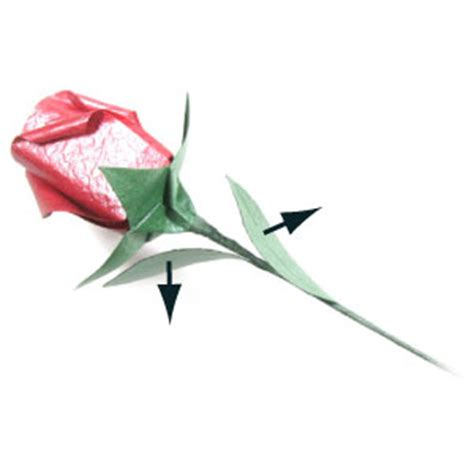 Flower Stem Origami - how to make an origami wire stem page 11