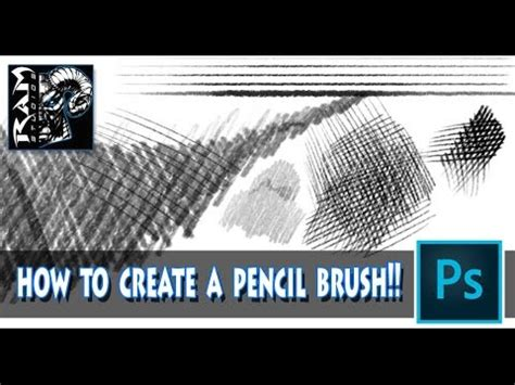 pattern brush photoshop cc how to create a pencil brush in photoshop cc tutorial