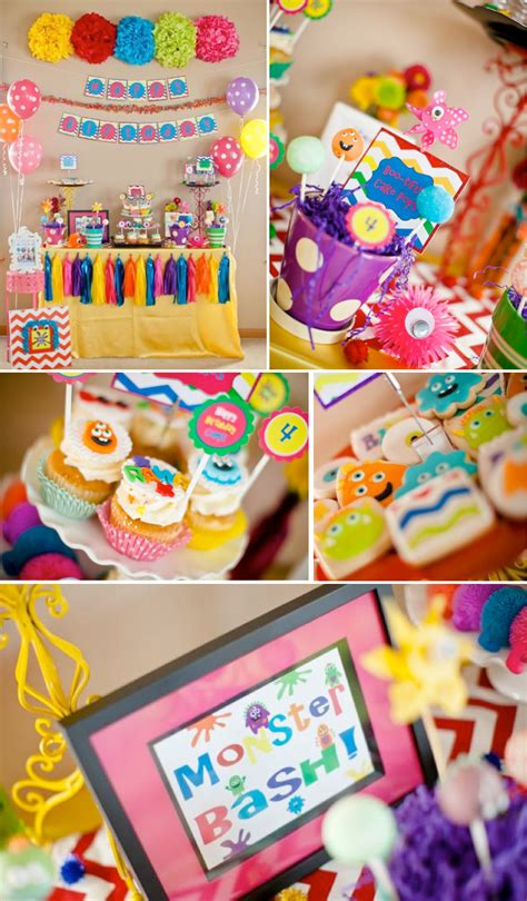 cute themes for birthday parties girly monster bash girl birthday party planning ideas