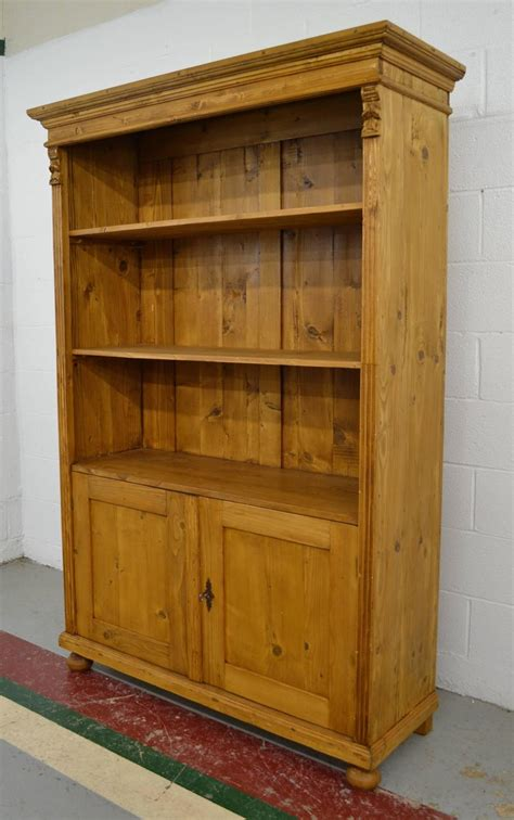 Pine Bookcase With Doors For Sale At 1stdibs Pine Bookcase With Doors