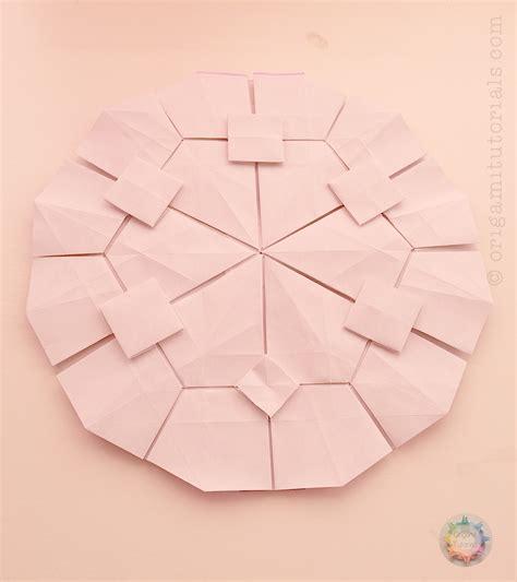 Origami Tessalation - origami hydrangea hydringea tessellation origami tutorials