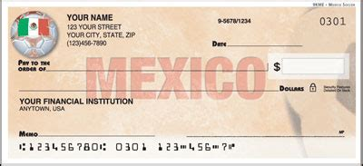 Background Check Mexico Soccer Themed Personal Checks Checkbook Covers And Address Labels
