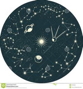 More similar stock images of zodiac constellation with planets in