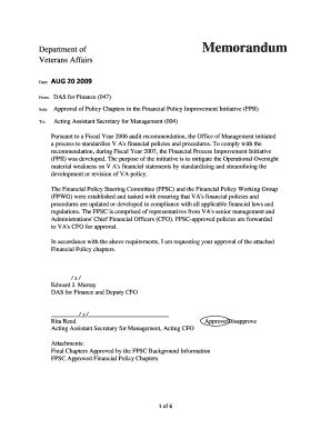 Va Memo Template Policy Memo Template Forms Fillable Printable Sles For Pdf Word Pdffiller