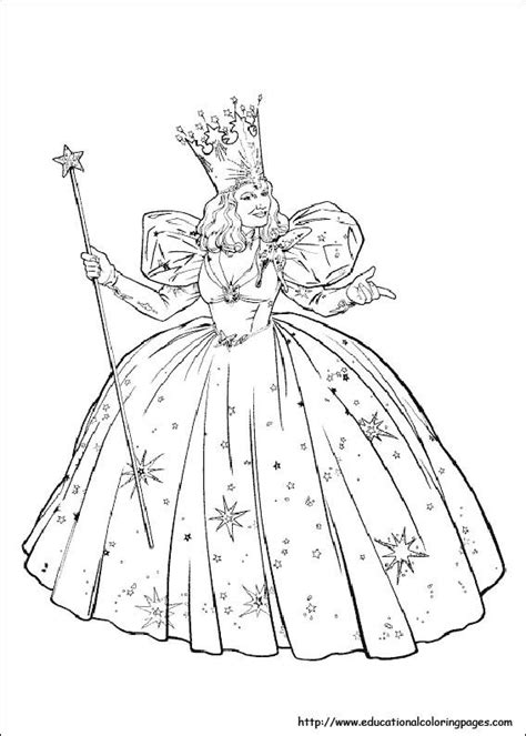 printable coloring pages wizard of oz glinda the witch coloring pages coloring