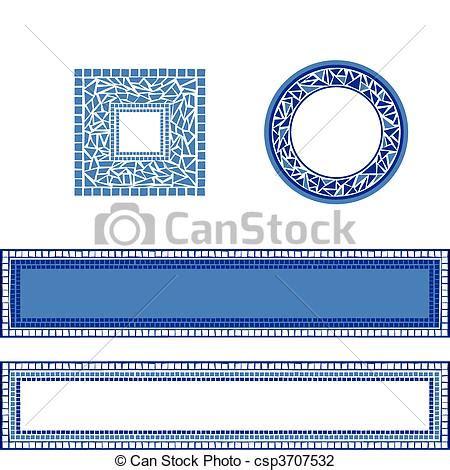 cornici mosaico illustrazioni vettoriali di cornici mosaico
