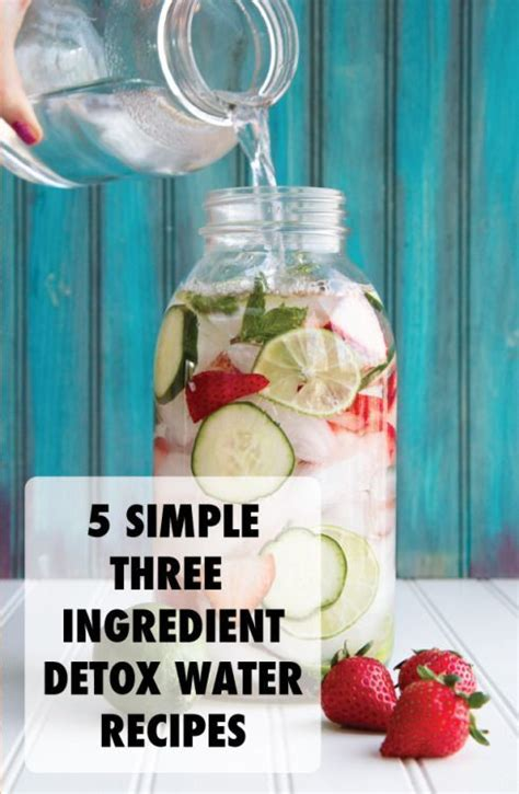Detox Water To Clean Your System by 5 Simple 3 Ingredient Detox Water Recipies Wish List