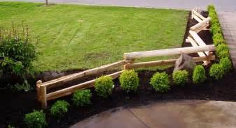 split rail fencing entrance front yard curb appeal