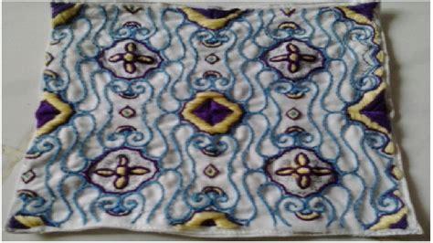 emblem seni kerajinan tangan saputangan sulam seni hias