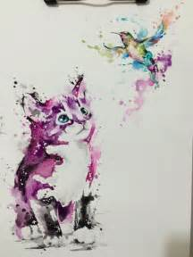 water color cat 25 best ideas about watercolor cat on black