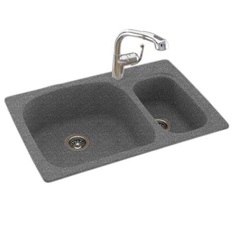 dual kitchen sink swan dual mount composite 33 in 1 basin