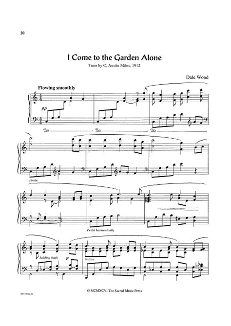 c i come to the garden alone sheet