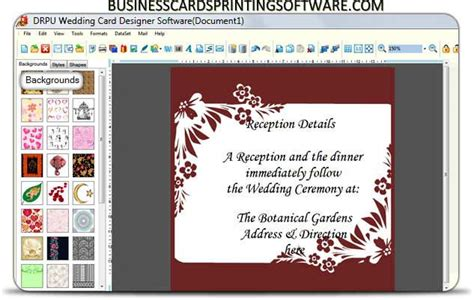 designing invitation software wedding cards designer software full windows 7 screenshot