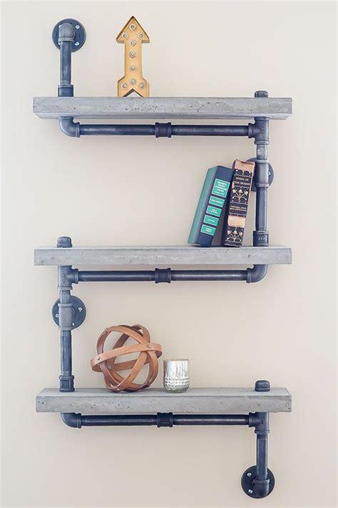 Plumbing Shelf by Best 25 Pipe Shelves Ideas On Industrial