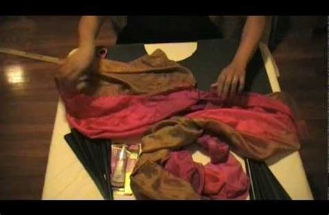 how to make a silk fan how to make tribal fan veils part 1 tribal belly dancing