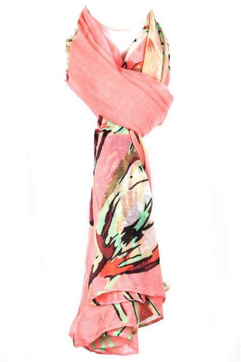 woven floral print scarf scarves