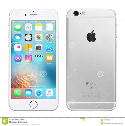 silver apple iphone 6s editorial stock photo image of editorial 91940458