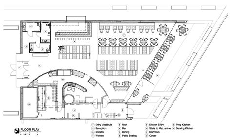 cafeteria floor plan gallery of cafe 501 elliott associates architects 20