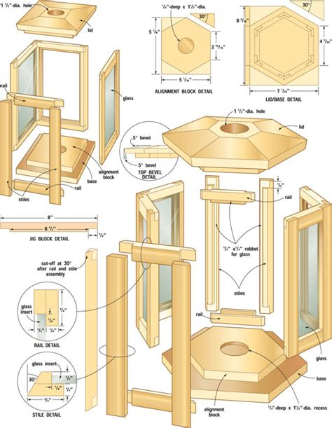 Electric Chair Blueprints by Wooden Candle Lantern Plans Woodproject