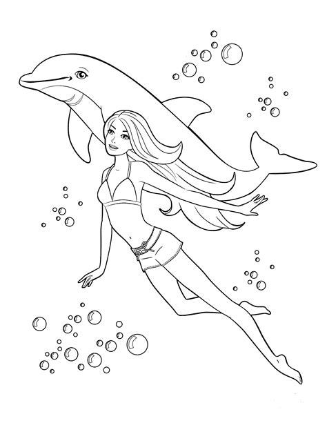 85  Barbie Coloring Pages for Girls : Barbie Princess