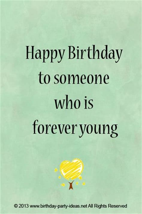 How To Wish Someone Happy Birthday On Happy Birthday To Someone Who Is Forever Young Cute