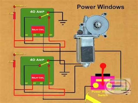 wire  power window relay youtube