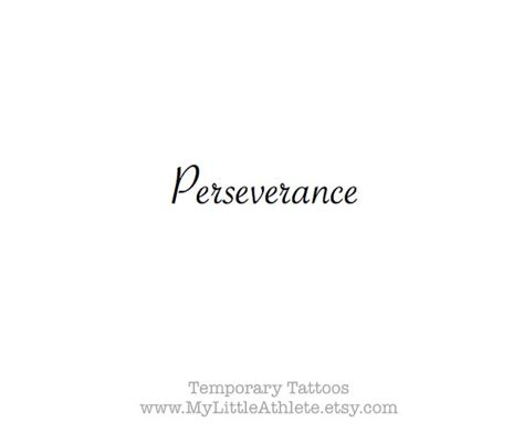 temporary tattoo word perseverance sports quotes wrist