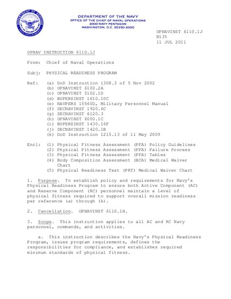 Navy Evaluation Letter Of Extension Navy Prt 6110 1 J
