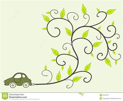 eco friendly car stock image image 34246131