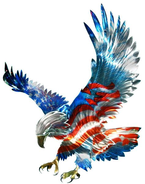 Eagle Decorations by New Large American Flag Bald Eagle Metal Wall