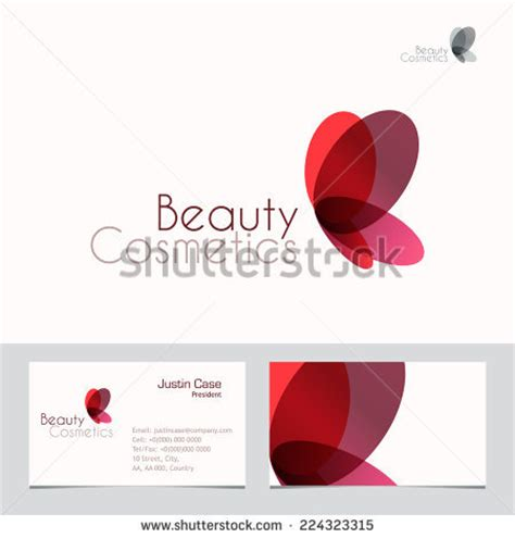 business card template package butterfly vector sign business card stock vector