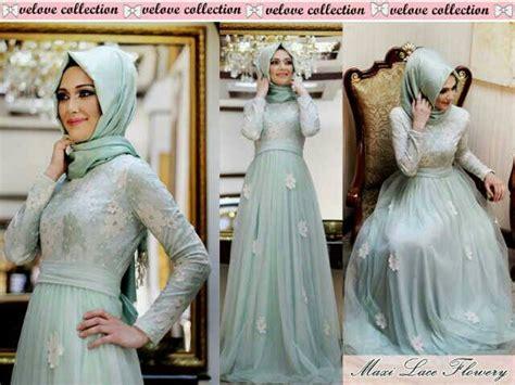 Maxi Best Flower Baju Muslim Wanita Busana Muslimah Gamis Busu pakaian dress muslim cantik quot maxi flower quot model