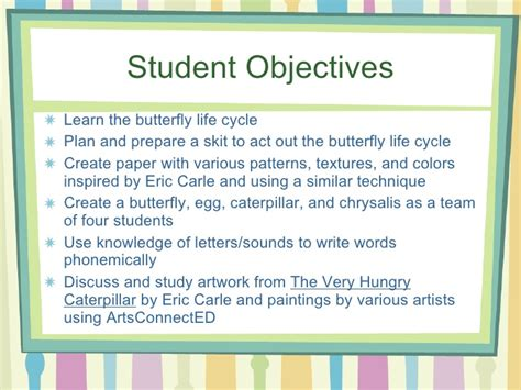 biography lesson plan objectives kindergarten butterfly life cycle