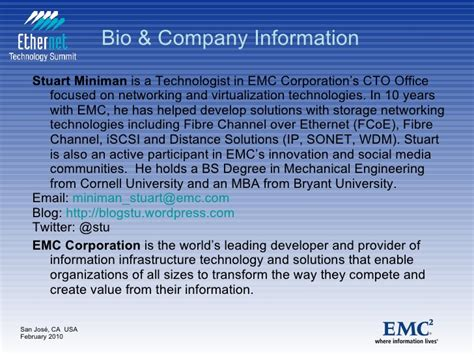 Emc Mba by Fcoe Origins And Status For Ethernet Technology Summit