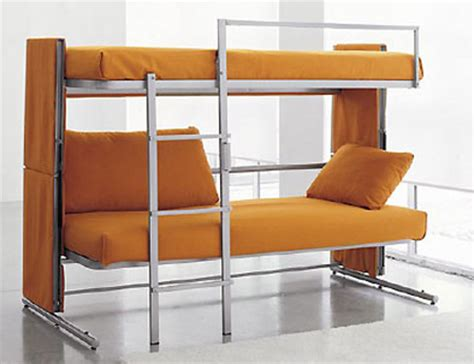sofa that turns into bunk beds transforming sofa turns into a bunk bed techeblog
