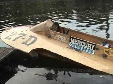wooden hydro boat plans vintage wood hydroplane race boat start up youtube