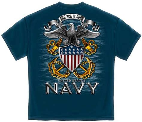 Kaosbajut Shirt Navy Militer Army the sea is ours us navy t shirt t shirts
