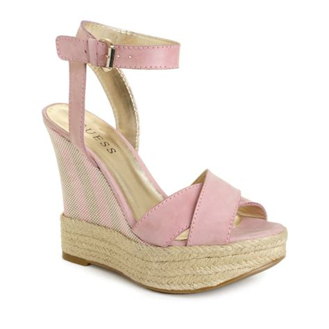 pale pink wedge sandals hue kambria wedge sandals in pink light pink lyst
