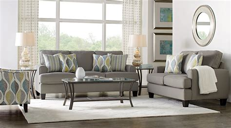 living spaces living room sets cypress gardens gray 7 pc living room living room sets