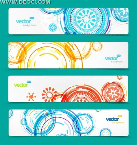 website layout vector free 4 set of vector website banner design templates background