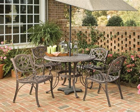 Patio Dining Sets For Four Home Styles Biscayne 5 Patio Dining Set With 42 Inch