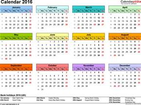 yearly calendars for 2016 yearly calendar template