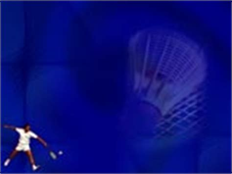 Free Powerpoint Templates And Themes Badminton 07 Badminton Ppt Templates Free