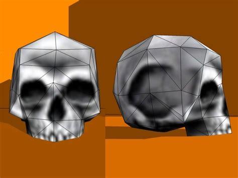 Skull Papercraft - papercraft 2bskull 2b 231 2b 2bhalf jpg