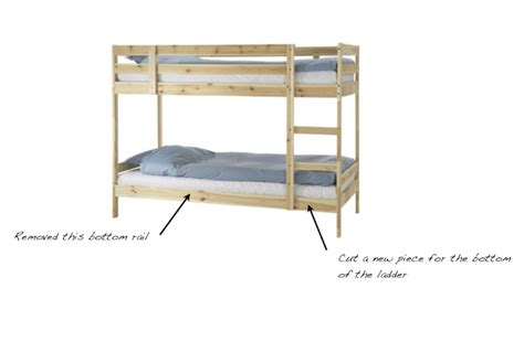 Convert Bunk Bed Into Loft Bed How To Convert The Ikea Mydal Bunk Bed 159 Into A Loft Bed With Curtains Fort Underneath