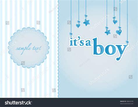 baby boy announcement card template baby boy arrival announcement card as a template