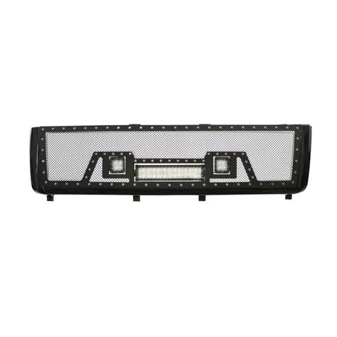 2014 Silverado Led Light Bar 2011 2014 Chevy Silverado 2500 3500 Grille W 12 Quot Led Light Bar And 2 2 Quot Lights
