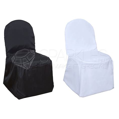 universal chair covers polyester polyester black or white banquet chair covers wedding
